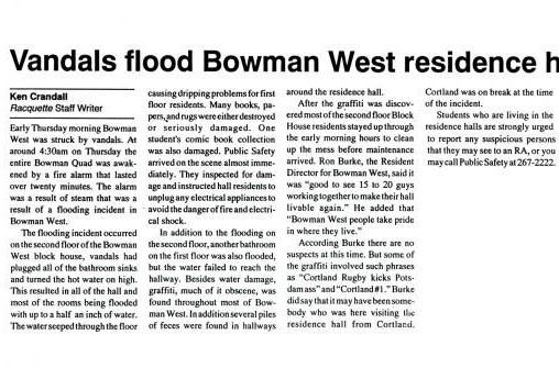 Bowman West Floods
