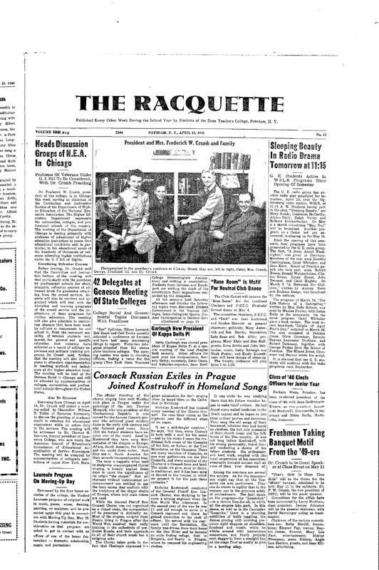 Racquette Articles related to Dr. Crumb's Efforts to Improve Education for Veterans
