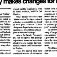 Faculty Makes Changes for Future