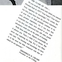 Letters from Dr. Frederick W. Crumb to graduating students.