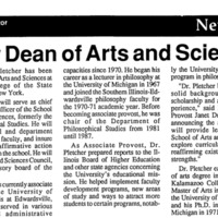 New Dean of Arts and Sciences