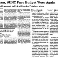 Potsdam, SUNY Face Budget Woes Again