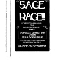 Flyer for Sage Rage Mixer