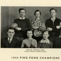 Ping Pong Champions 1935