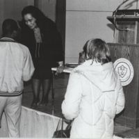 Coretta Scott King Meeting Students