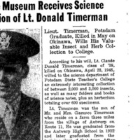 College Museum Receives Science Collection of Lt. Donald Timerman.png