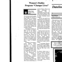 "Women's Studies Program ""Changes Lives"""