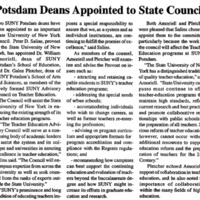 Potsdam Deans Appointed to State Council