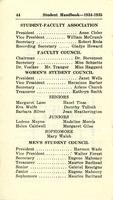 1934-1935 Student Handbook