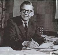 President Austin Peck at His Desk