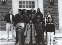 Afro-American Society Posing for a Picture