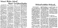 """""""School-within-School"""" Slated for Liberal Studies"""