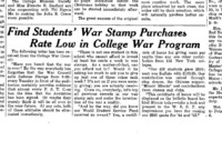Find Students' War Stamp Purchases Rate Low in College War Program.png