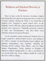 Religious and Spiritual Diversity at Potsdam