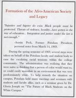 Formation of the Afro-American Society and Legacy